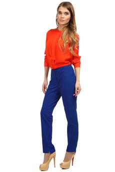 Синие классические женские брюки Mondigo со скидкой