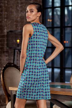Бирюзовое платье без рукавов RUXARA со скидкой