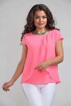 Шифоновая блуза с драпировками Liora