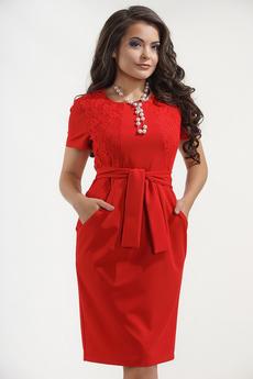 Платье с поясом в офисном стиле Liora со скидкой
