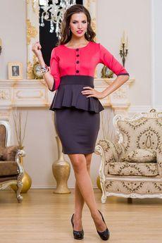 ХИТ продаж: черное платье с красным верхом Angela Ricci