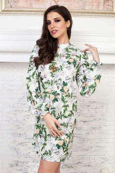 Белое платье с розами Angela Ricci
