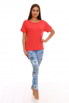 Комплект: лосины и коралловая футболка Вилана